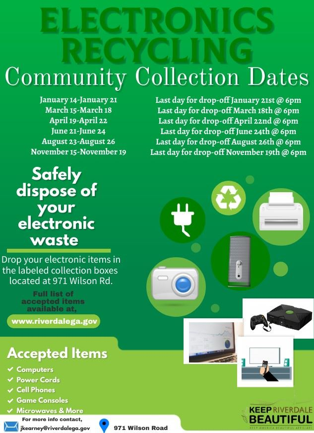 Electronics Recycling Calendar 2021